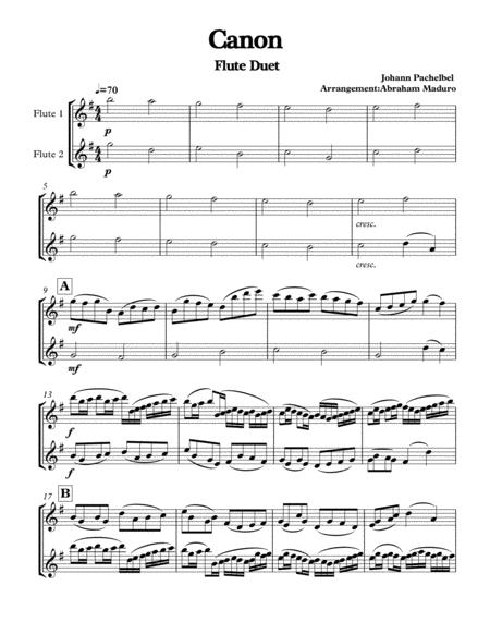 Pachelbel's Canon Flute Duet