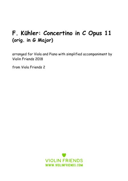 Küchler Concertino Op. 11 arr. for Viola and Piano
