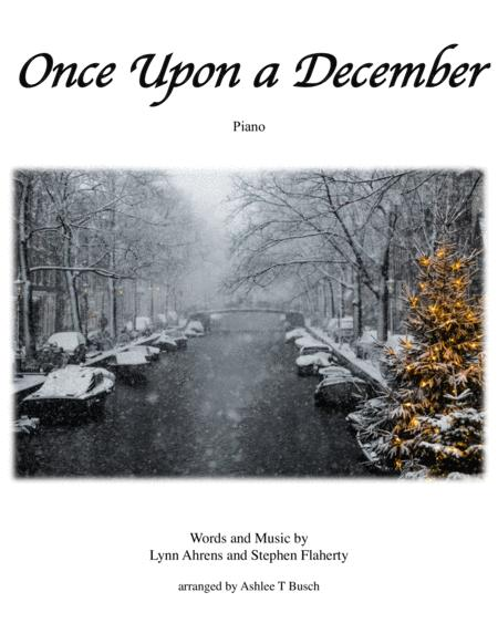 Once Upon A December for Piano