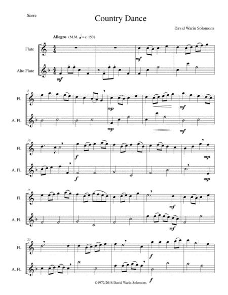 Country dance for flute and alto flute