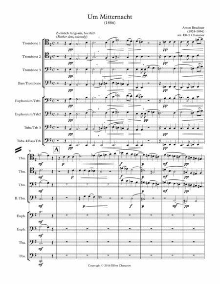 Um Mitternacht for 8 part trombone or low brass choir