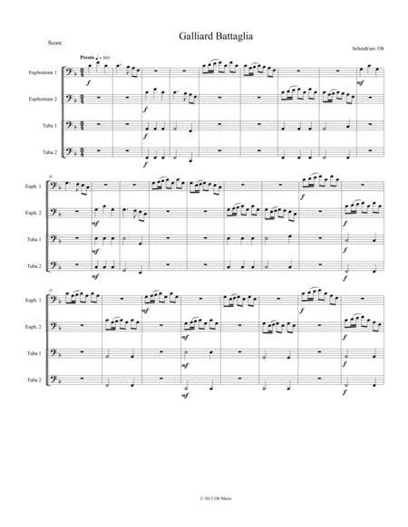 Galliard Battaglia for tuba quartet