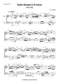 Violin Sonata in G minor, HWV 368 (Handel, George Frideric)