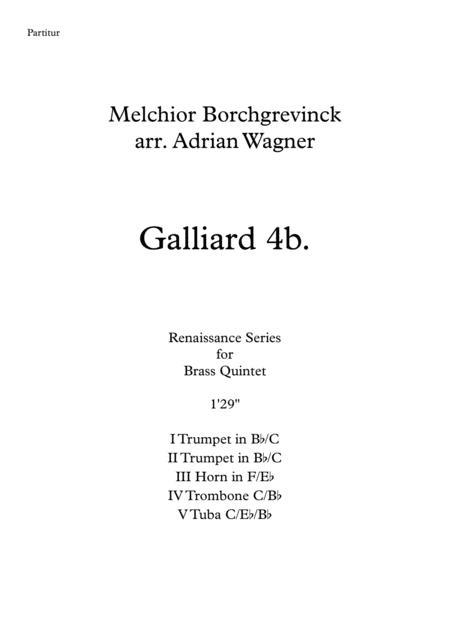 Galliard 4b. (Melchior Borchgrevinck) Brass Quintet arr. Adrian Wagner