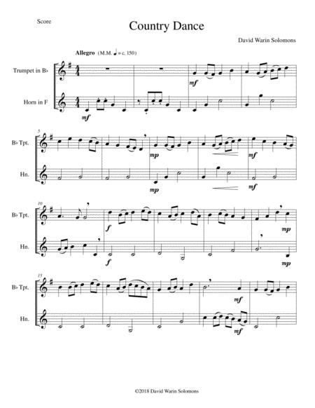 Country dance for trumpet and French horn