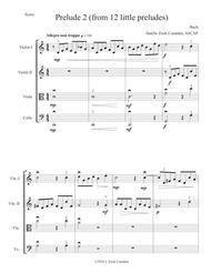 Prelude II for string orchestra/quartet