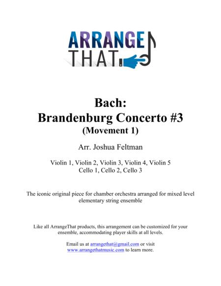 Bach: Brandenburg Concerto #3, Movement 1