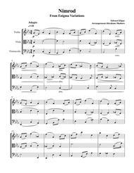 Nimrod from Enigma Variations Violin Viola Cello Trio