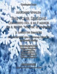 "Vivaldi – L'inverno ""Winter"" 2. Largo from The Four Seasons - (for Saxophone Quintet SATTB)"