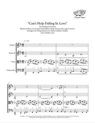 Can't Help Falling In Love - String Quartet - Elvis arr. Cellobat - Recording Available!