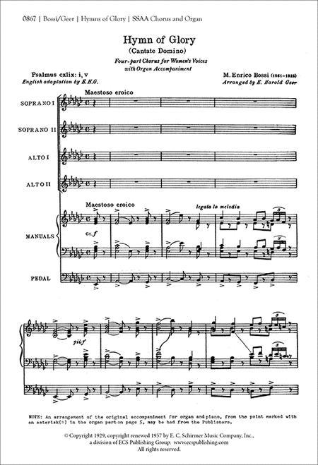 Hymn of Glory (Cantate Domino)
