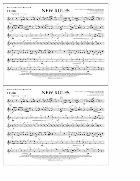 New Rules - F Horn