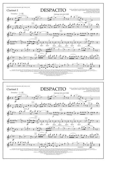 Despacito - Clarinet 1