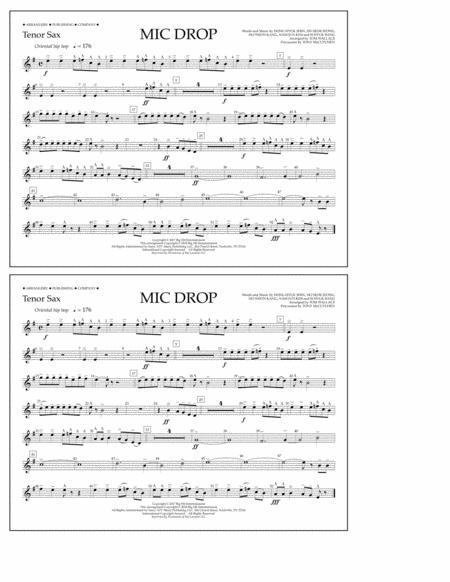 Mic Drop - Tenor Sax