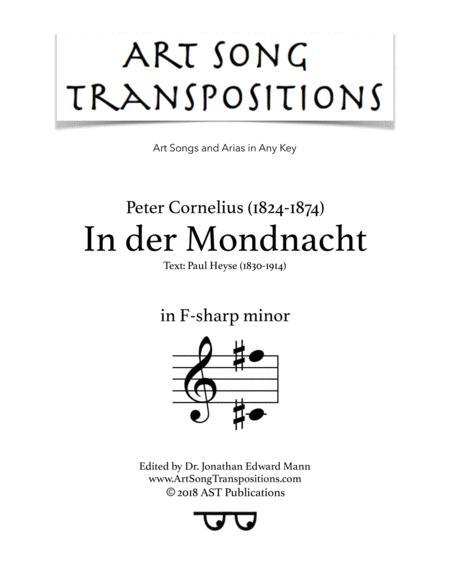 In der Mondnacht (F-sharp minor)
