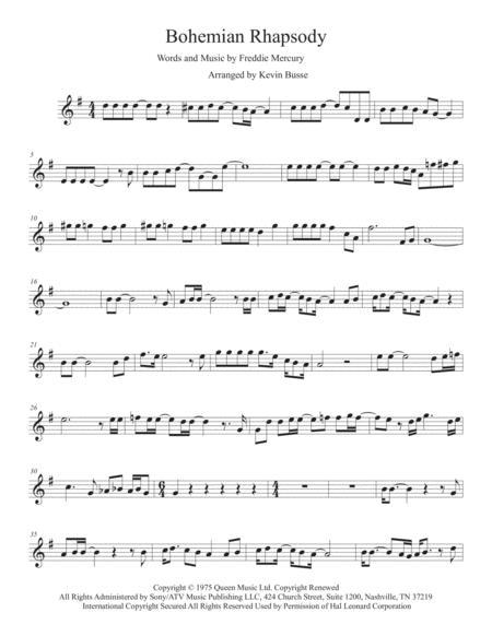 Bohemian Rhapsody (Original key) - Alto Sax