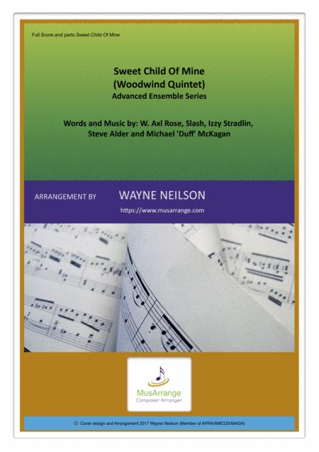 Sweet Child O' Mine for Woodwind Quintet