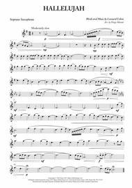 Hallelujah for Saxophone Quartet