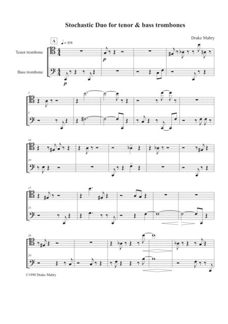 Stochastic Duo for tenor and bass trombones