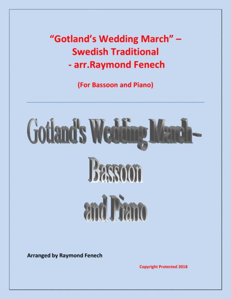 Gotland's Wedding March - Traditional - Bassoon and Piano