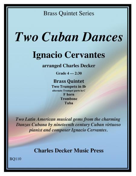Two Cuban Dances for Brass Quintet