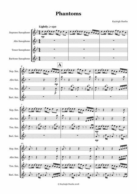 Phantoms - Saxophone quartet (SATB)