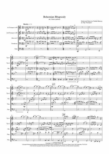 Queen: Bohemian Rhapsody - brass quintet