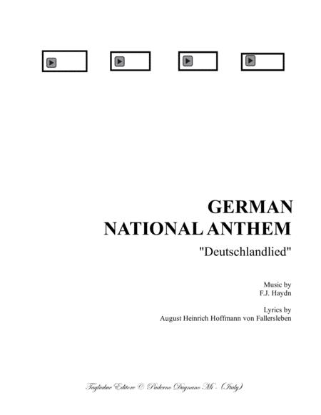 Download GERMAN NATIONAL ANTHEM - German Text - For SATB Choir And