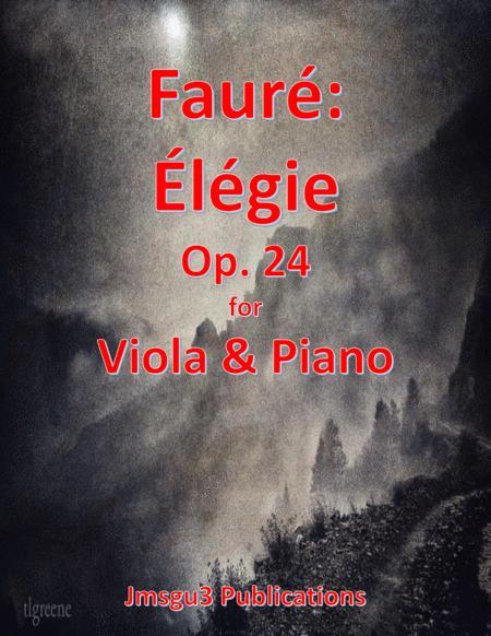 Fauré: Élégie Op. 24 for Viola & Piano