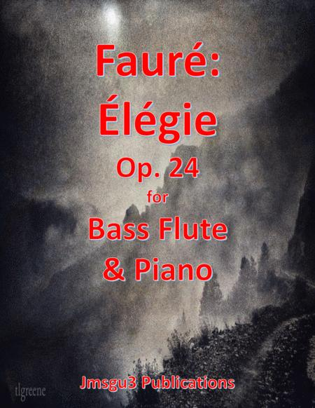 Faure: Elegie Op. 24 for Bass Flute & Piano