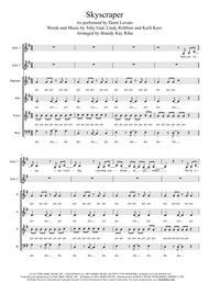 Skyscraper (SATB a cappella)