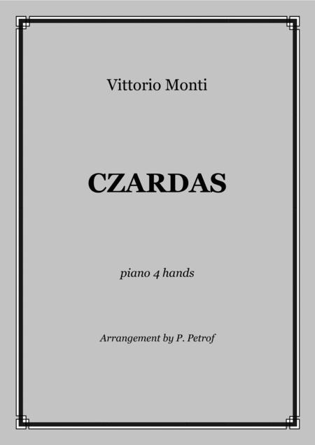 V. Monti - CZARDAS - 1 piano 4 hands - score and parts