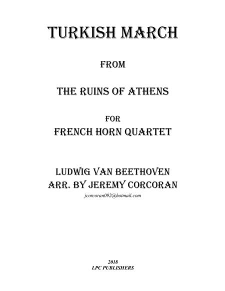 Turkish March from The Ruins of Athens for French Horn Quartet