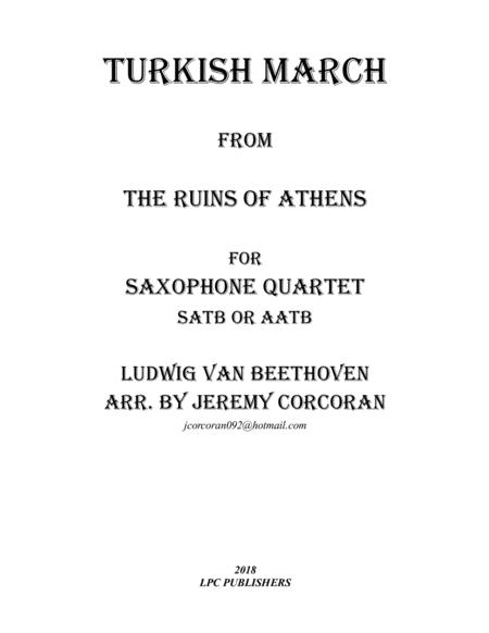 Turkish March from The Ruins of Athens for Saxophone Quartet