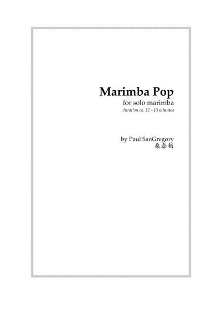 Marimba Pop (for solo marimba)