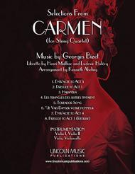 Bizet – Selections from CARMEN (for String Quartet)