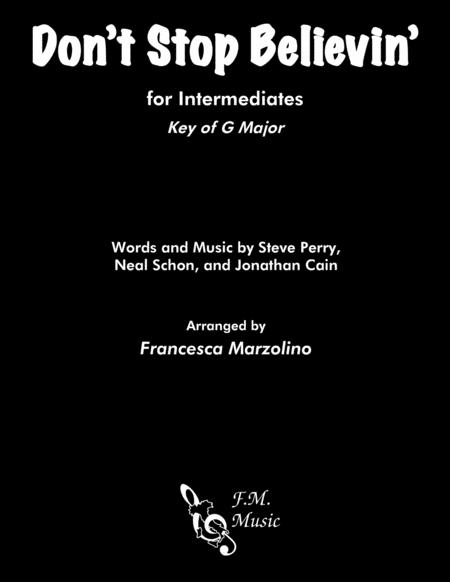 Don't Stop Believin' (Intermediate Piano - G Major)