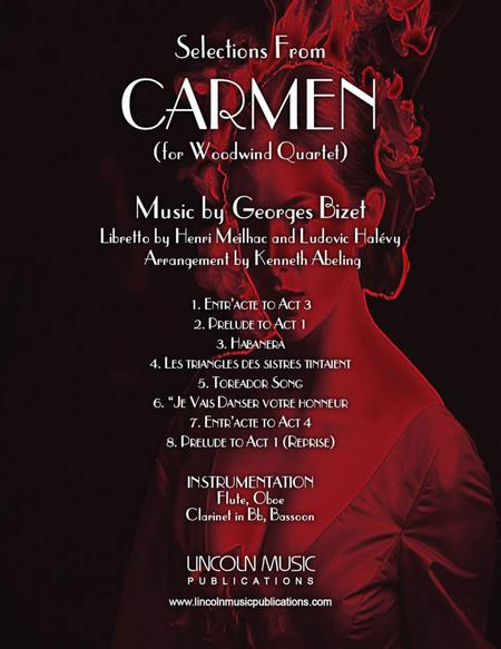 Bizet – Selections from CARMEN (for Woodwind Quartet)