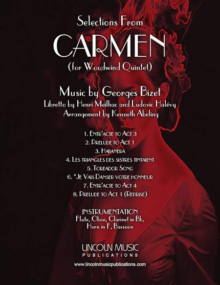 Bizet – Selections from CARMEN (for Woodwind Quintet)