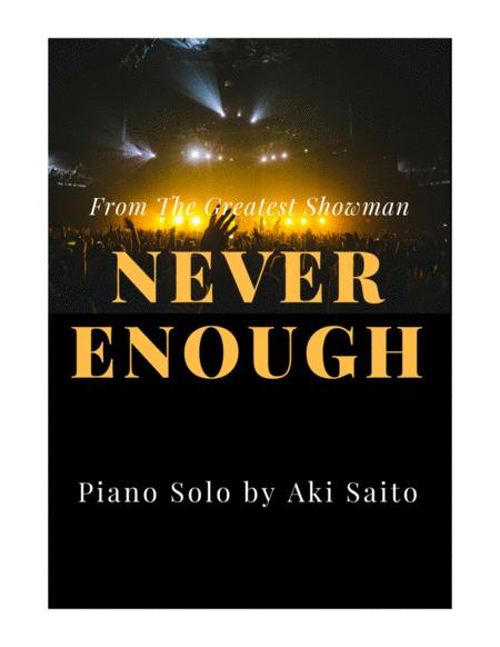 Never Enough from the movie The Greatest Showman - Easy Piano