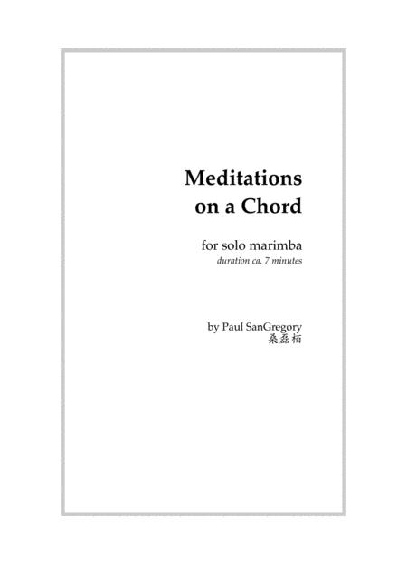 Meditations on a Chord (for solo marimba)