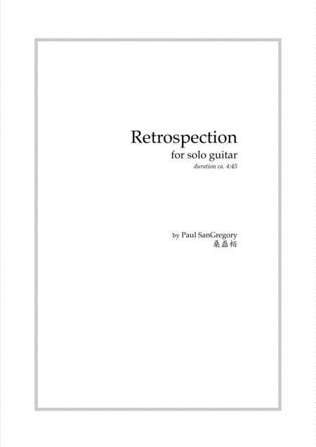 Retrospections (for solo guitar)