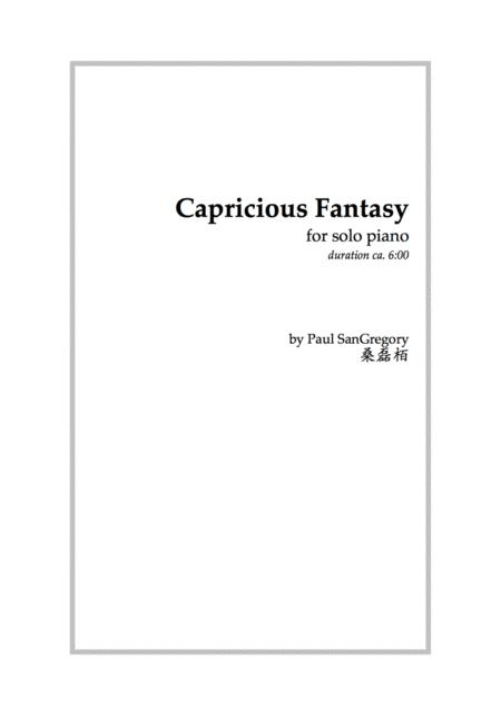 Capricious Fantasy (for solo piano)