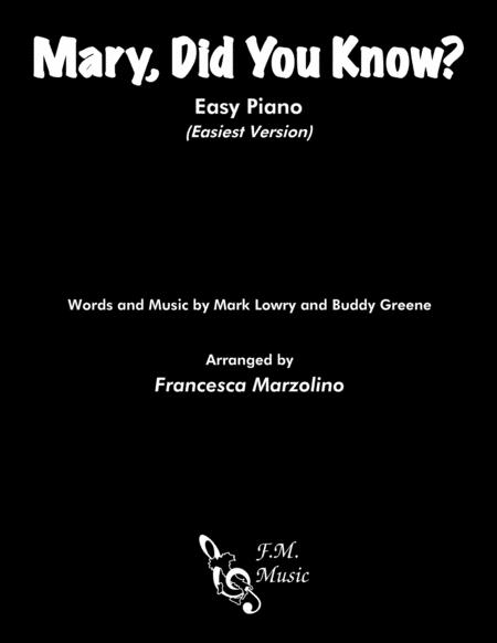Mary, Did You Know? (Easy Piano - Beginners)