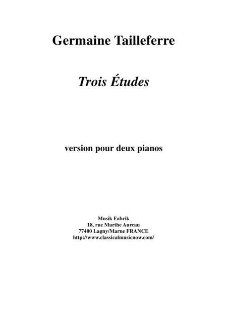 Germaine Tailleferre: Trois Études for two pianos