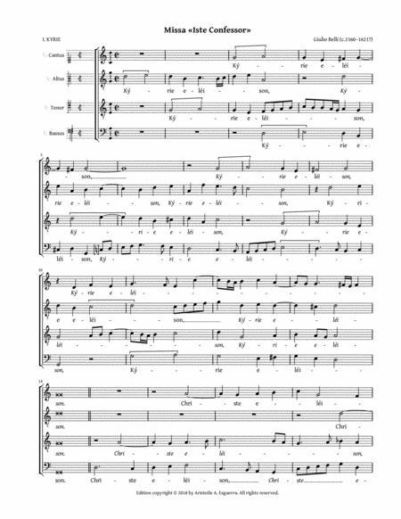 Missa Iste confessor a 4 (Belli)