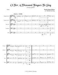 O For A Thousand Tongues To Sing (Brass Quintet)