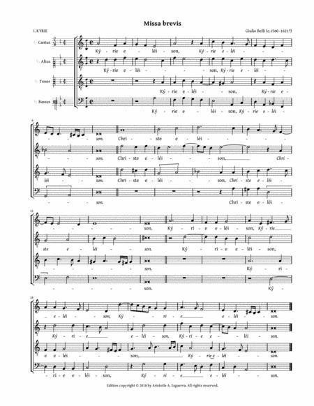 Missa brevis a 4 (Belli)