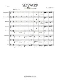 Download Skysword For Junior Brass Band Sheet Music By Andy Derrick