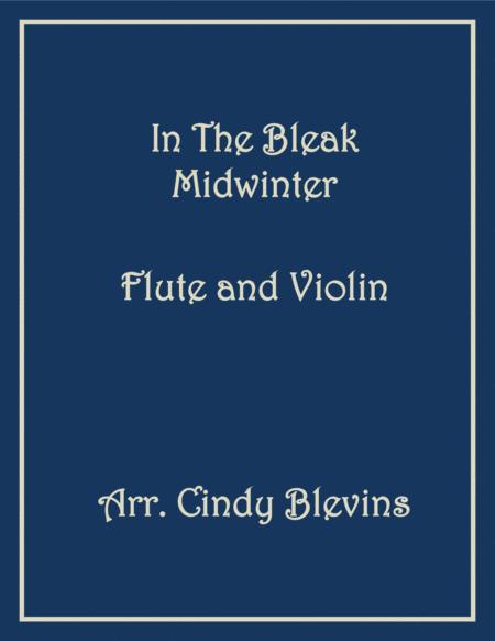 In the Bleak Midwinter, for Flute and Violin